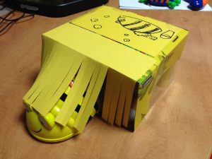 Cardboard model of carwash for Bee-Bot to move through